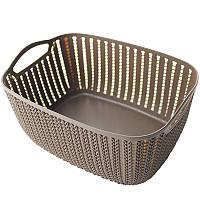 Корзинка для полотенец плетение 2 л Bathlux Stone 70273