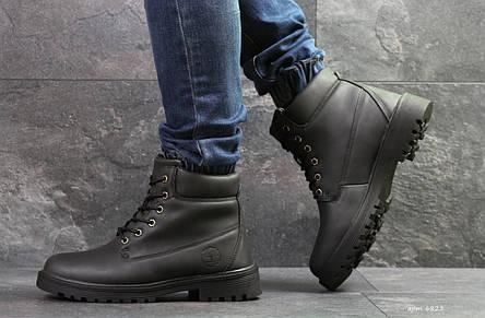 Чоловічі зимові черевики Timberland чорні,на хутрі, фото 2