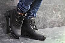 Чоловічі зимові черевики Timberland чорні,на хутрі, фото 3