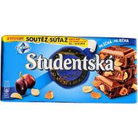 Молочний шоколад з горішками і родзинками Studentska 180 г.