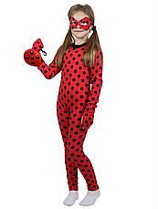 Детский костюм Леди Баг + парик для девочек 3,4,5,6,7,8 лет Костюм современный Супергерои 343, фото 3
