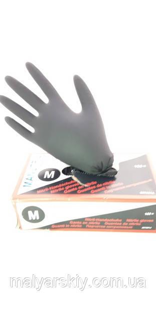 Рукавиці нітрилові Чорні M (пара) Serwo