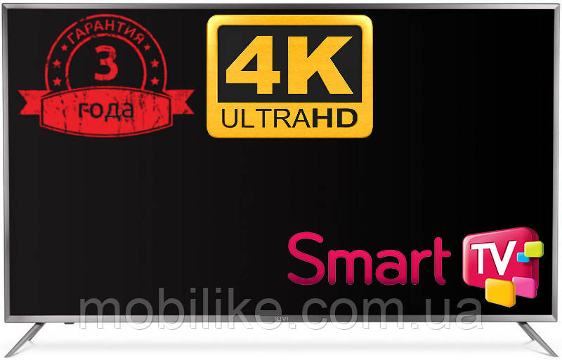 "Телевизор Kivi 43UR50GU 43"" 4K Ultra HD Smart TV 3 ГОДА ГАРАНТИЯ!!!"