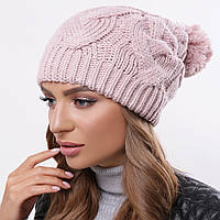 Модная вязаная шапка зимняя