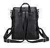 Рюкзак женский сумка кожзам с заклепками Vanesa Черный, фото 4