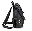 Рюкзак женский сумка кожзам с заклепками Vanesa Черный, фото 3