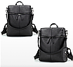 Рюкзак женский сумка кожзам с заклепками Vanesa Черный, фото 2