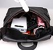 Рюкзак женский сумка кожзам с заклепками Vanesa Черный, фото 6