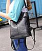 Рюкзак женский сумка кожзам с заклепками Vanesa Черный, фото 9