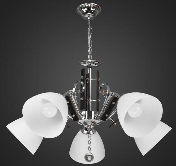 Люстра подвесная хром 5 ламп AR-004553 модерн