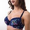 Комплект нижнего белья женский темно синий 3850, фото 4