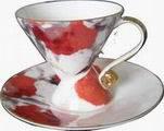 Набор чашек с блюдцем ALPARI TS-802 Pink 8 пр. фарфор