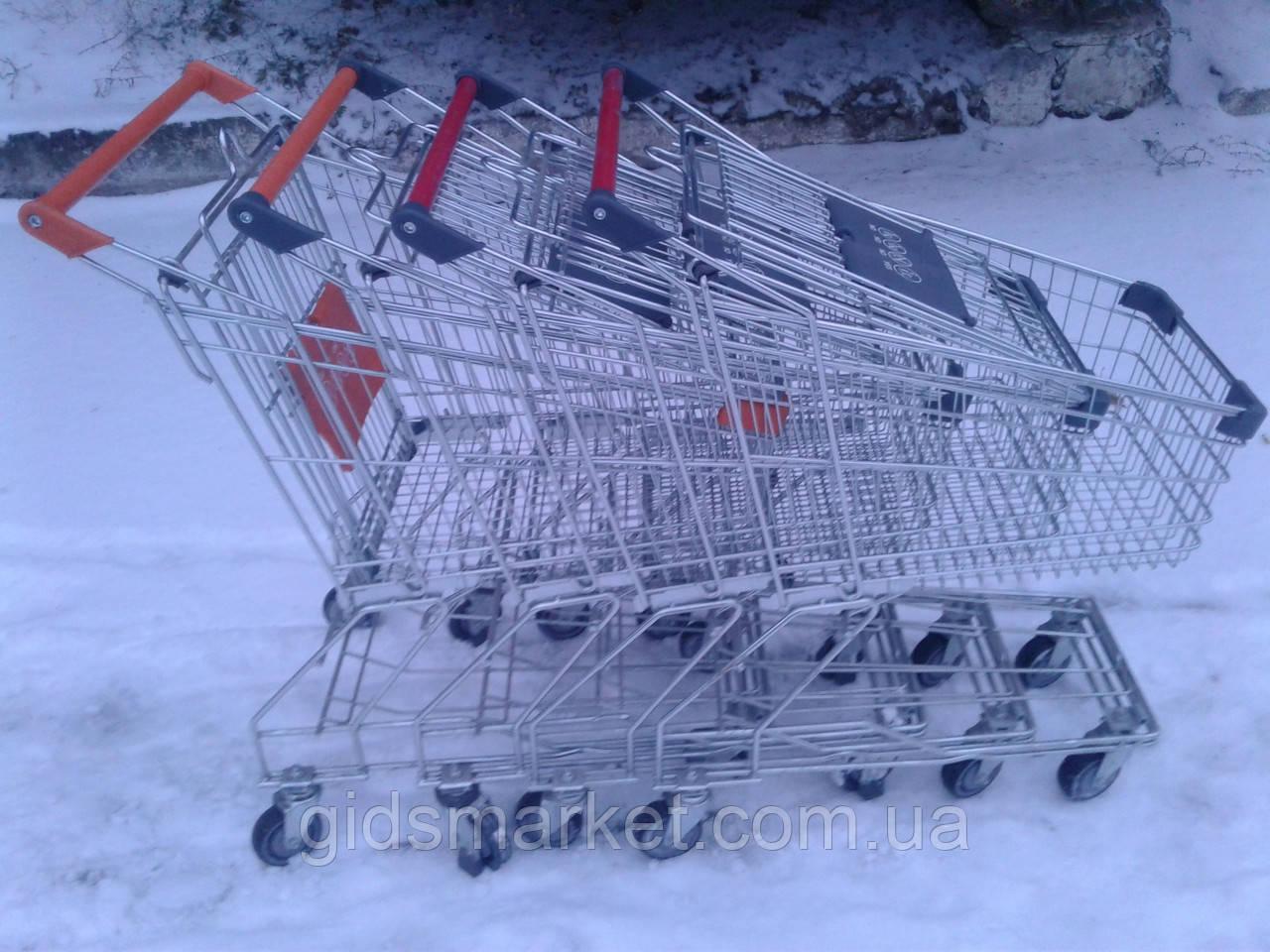 Торговые тележки 80 Л. Новые, тележки для супермаркета, тележки для покупателей.