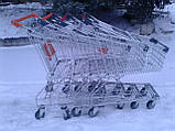 Торговые тележки 80 Л. Новые, тележки для супермаркета, тележки для покупателей., фото 3