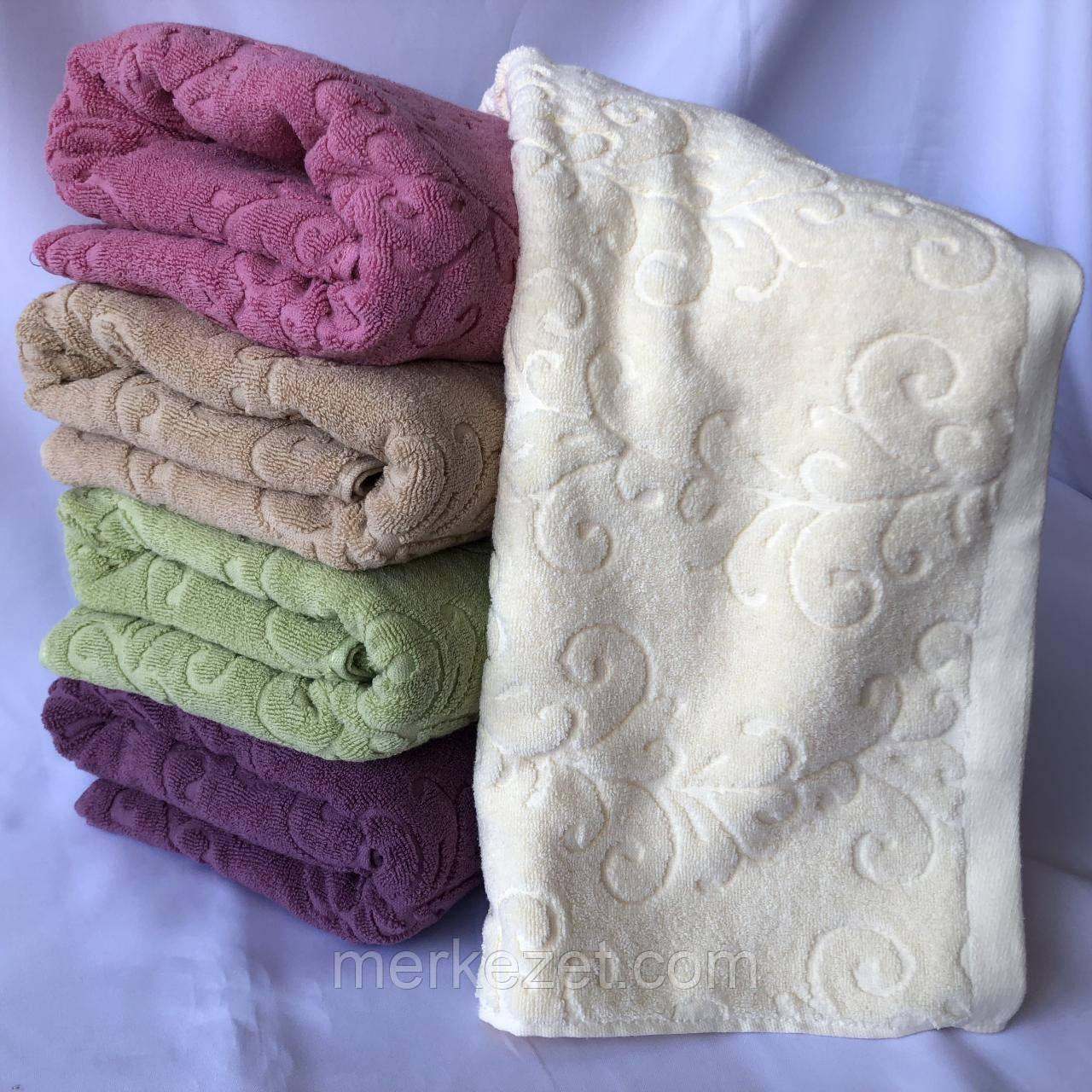 """Банное махровое полотенце """"Ромашки на веточке"""". Полотенце. Махровые полотенца"""