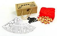 Лото настольная игра в футляре, обтянутом мешковиной (р-р футляра 25x13,5x9,5см)