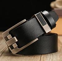 Ремень мужской кожаный классический DWTS  (черный)