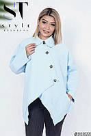 Ультрамодное пальто свободного кроя с 50 по 60 размеры, фото 1