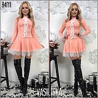 Женское эффектное платье с пышной юбкой (3 цвета)