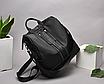 Рюкзак женский городской Gou сумка Черный, фото 3