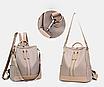 Рюкзак женский городской Gou сумка Черный, фото 6