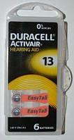 Батарейка Duracell ZA13 (PR48) для слуховых аппаратов /6/60шт.