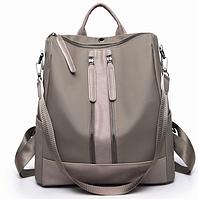 Рюкзак женский городской Gou сумка Серый
