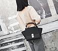 Вместительная сумка с ушками / застежка в стиле Хлое (0400) Черный, фото 7