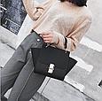 Вместительная сумка с ушками / застежка в стиле Хлое (0400) Черный, фото 4