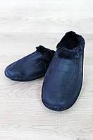 Галоши мужские на меху без задника дефект помятость ACG 0911 темно-синие