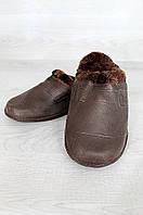 Галоши мужские на меху без задника дефект помятость ACG 0912 коричневые
