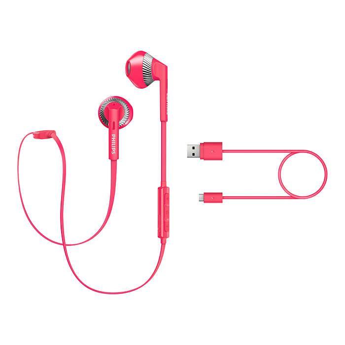 Навушники Philips SHB5250PK Mic Pink Wireless бездротові