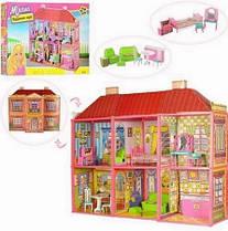 Кукольный домик 6983 с мебелью, 2-ва этажа и 6-ть комнат