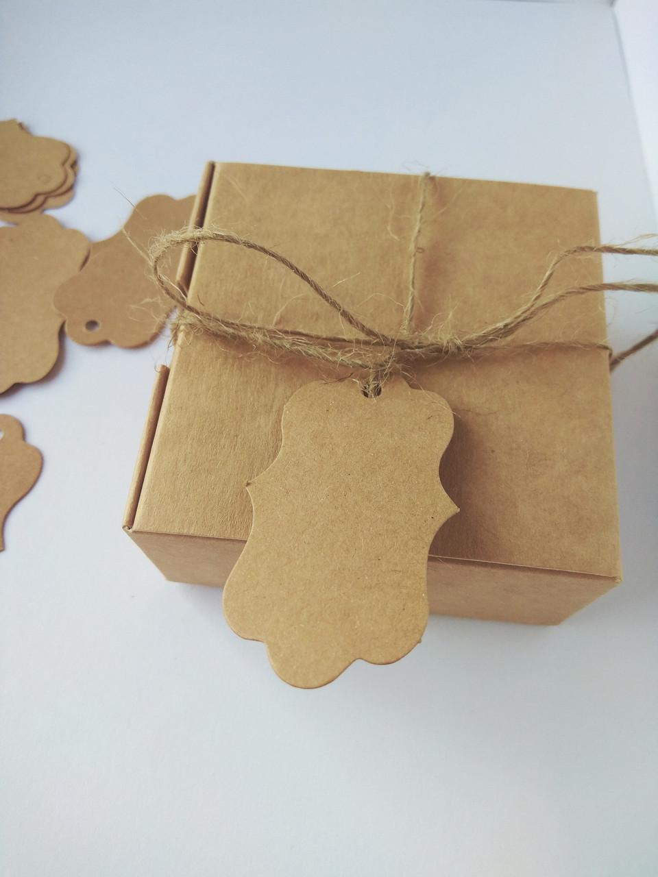 Бирка для подарунків крафт (0002)
