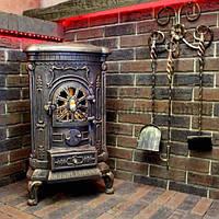Камин печь буржуйка чугунная Bonro Gold 9 кВт Топка