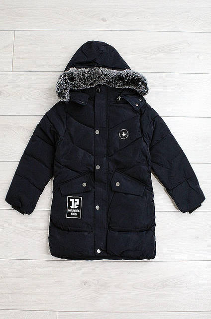 Куртка подросток мальчик темно-синяя H&B 0634