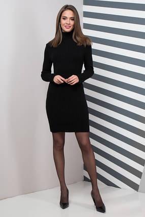 Жіноча сукня  приталена  Basic (чорне), фото 2