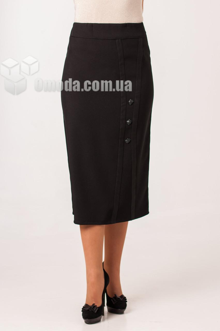 Женская прямая юбка Майя чёрного цвета