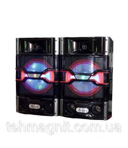 """Активная акустическая система колонки Ailiang USBFM-7011-DT,  50W, 10"""" дюймов, подсветк ( Реплика )"""