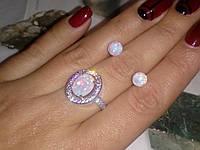 Огненный опал красивое кольцо с опалом в серебре 17 размер , фото 1