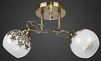 Люстра двойка цветочная AR-004556 античная бронза