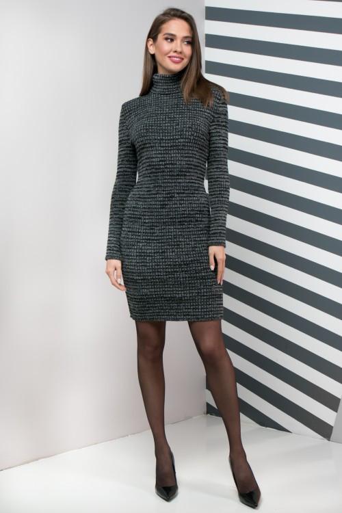 Женское платье приталенное Basic меланж
