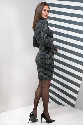 Женское платье приталенное Basic меланж, фото 2