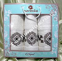 Набор махровых полотенец 3шт Merzuka Elegant