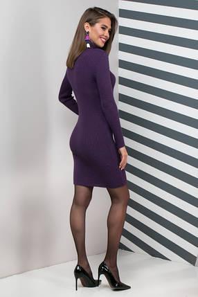 Женское платье приталенное Basic слива, фото 2