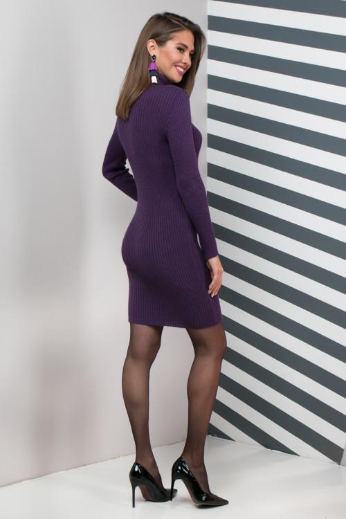Женское платье приталенное Basic слива
