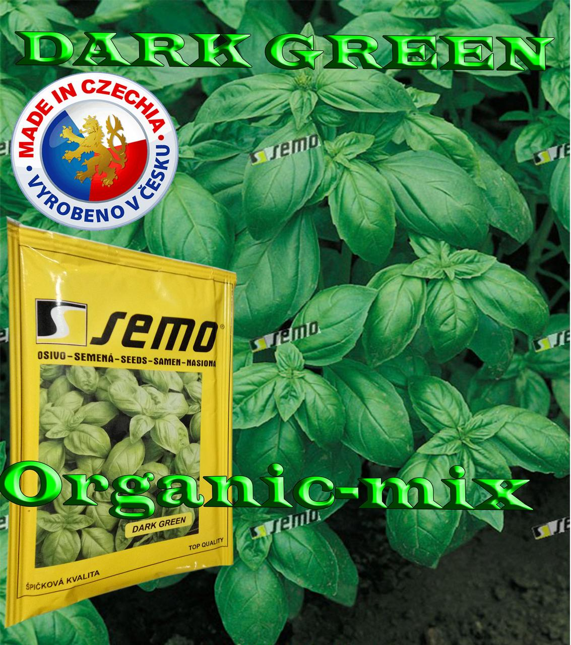 Семена, Базилик зеленый ДАРК ГРИН / DARK GREEN (проф.пакет 50 грамм) Semo (Чехия)