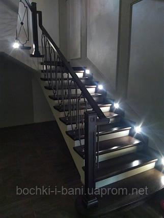 Лестница с кованными перилами (ясень), фото 2