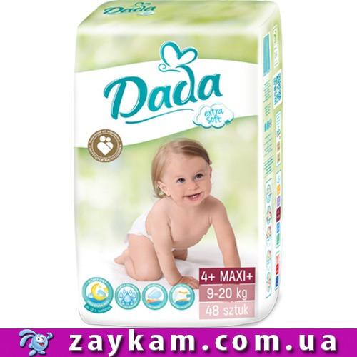 Памперсы подгузники DADA 4+ extra soft 9-20 кг (Дада 4 экстра софт ... a45081cc4c1