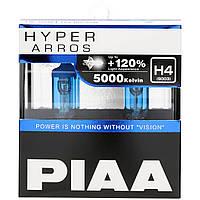 Автолампы PIAA Hyper Arros H4 5000K + 120%